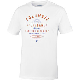 Columbia Leathan Trail Tee Men White/Graphic